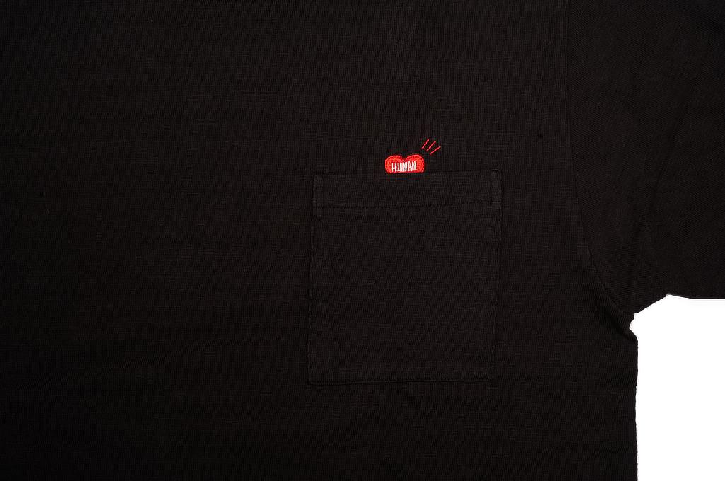 Human Made Slub Cotton T-Shirt - Pocket Peek / Black - Image 2