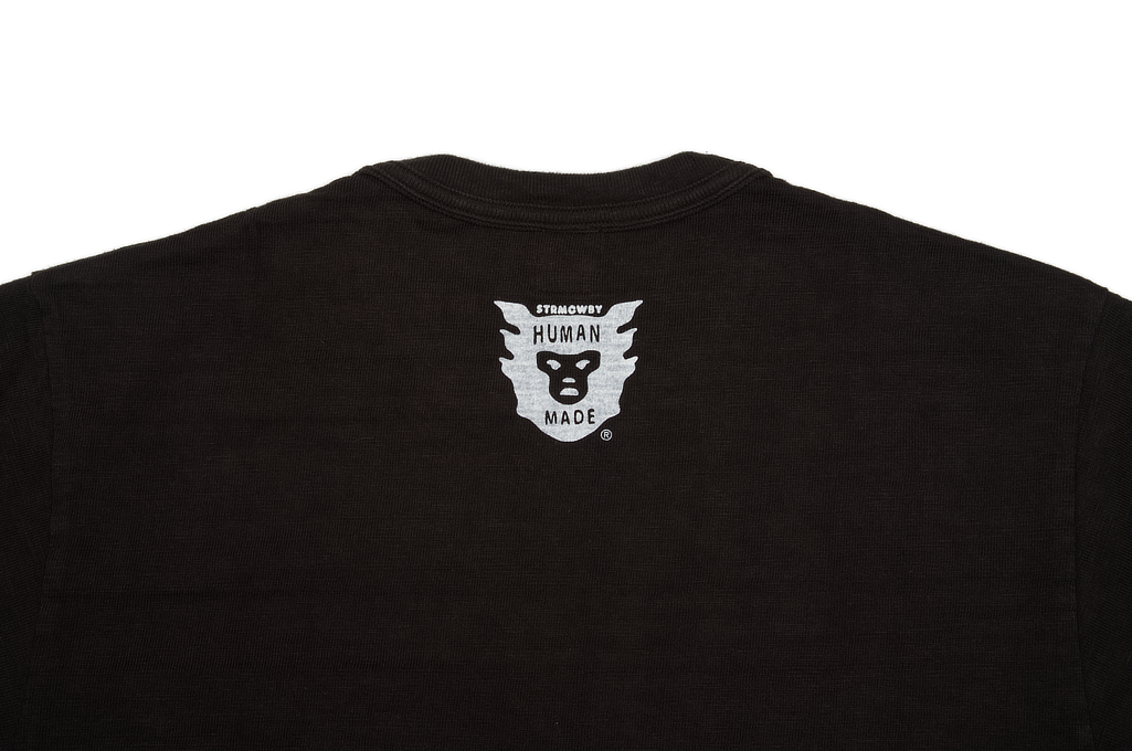 Human Made Slub Cotton T-Shirt - Pocket Peek / Black - Image 3