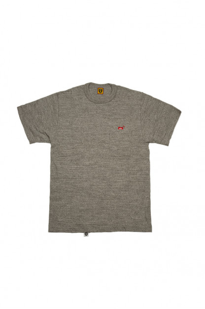 Human Made Slub Cotton T-Shirt - Pocket Peek / Gray