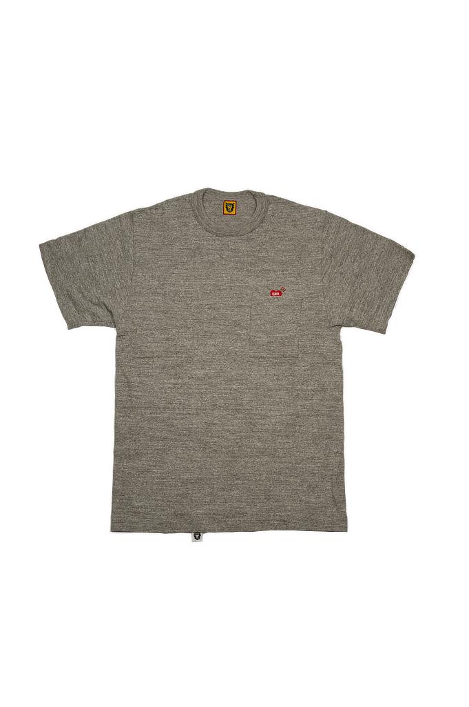 Human Made Slub Cotton T-Shirt - Pocket Peek / Gray - Image 0