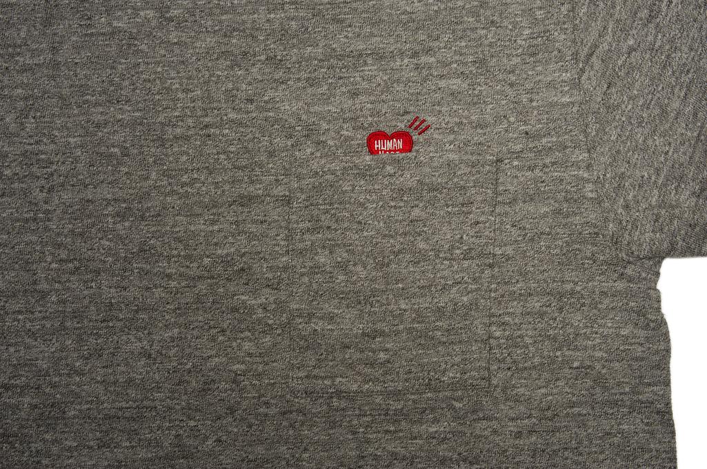 Human Made Slub Cotton T-Shirt - Pocket Peek / Gray - Image 2