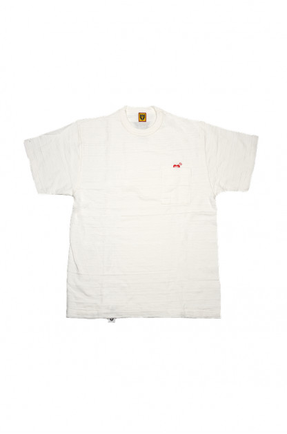 Human Made Slub Cotton T-Shirt - Pocket Peek / White