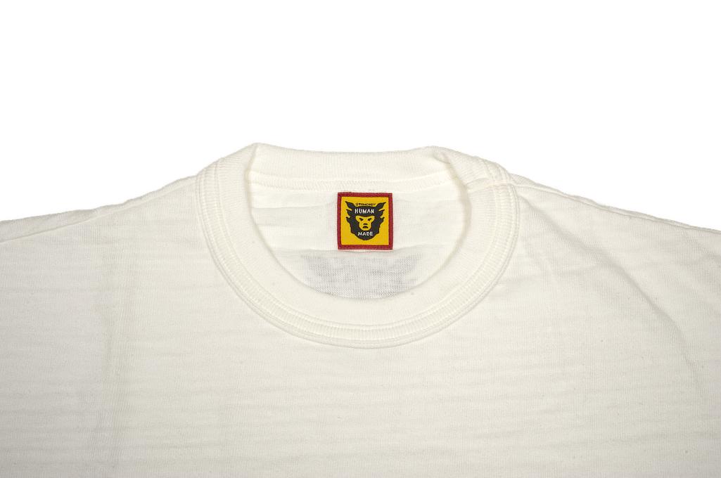 Human Made Slub Cotton T-Shirt - Pocket Peek / White - Image 1