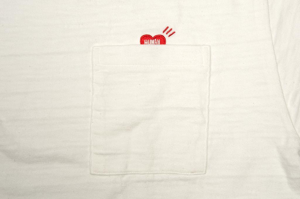 Human Made Slub Cotton T-Shirt - Pocket Peek / White - Image 2
