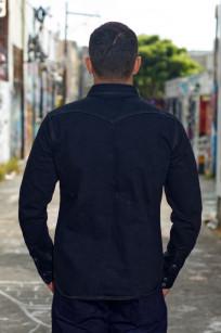 Iron Heart 18oz Denim CPO Shirt w/ Hand Pockets - Overdyed - Image 1