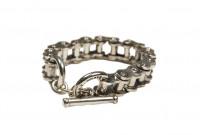 Iron Heart Sterling Silver Bracelet - Image 1