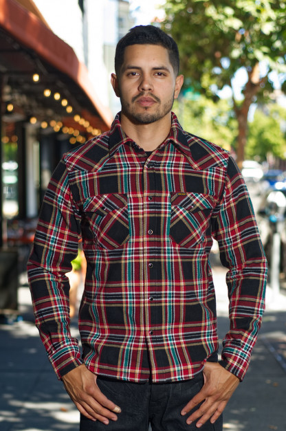 Iron Heart Ultra-Heavy Flannel - Black Crazy Check