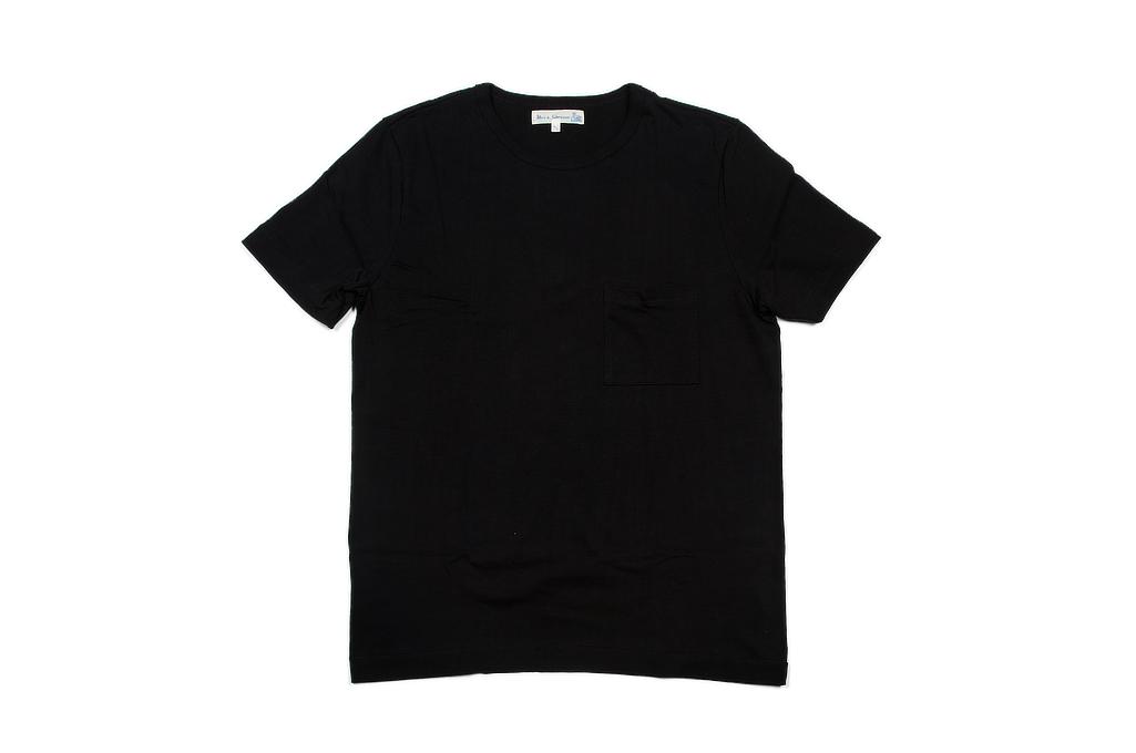 Merz. B Schwanen 2-Thread Heavy Weight T-Shirt - Deep Black Pocket - Image 2