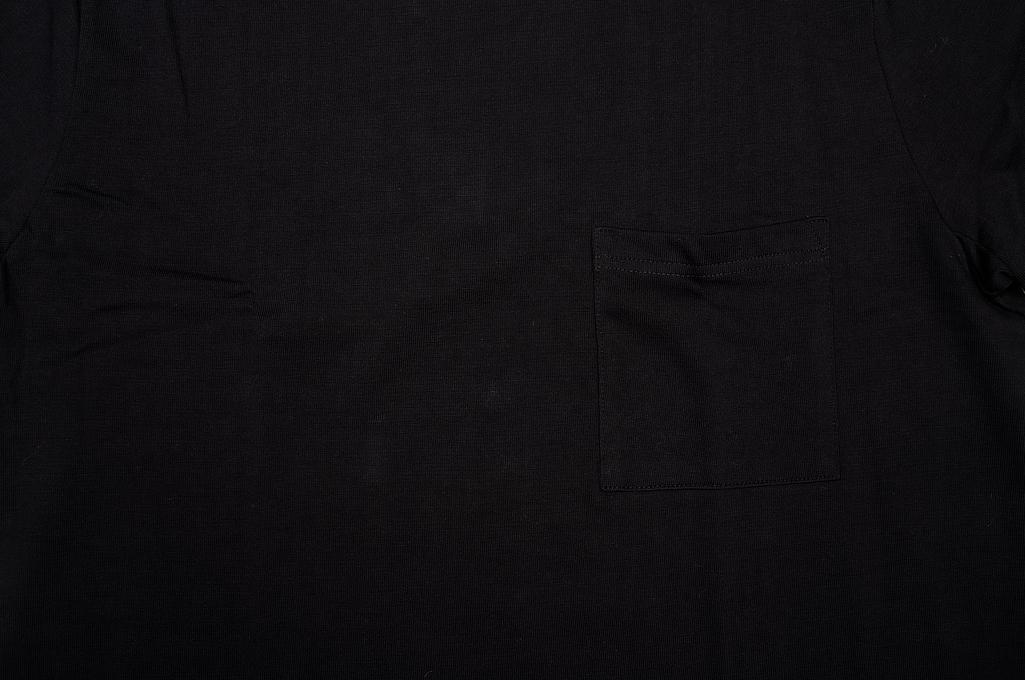 Merz. B Schwanen 2-Thread Heavy Weight T-Shirt - Deep Black Pocket - Image 4