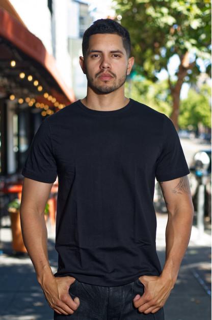 Merz. B Schwanen 2-Thread Heavy Weight T-Shirt - Deep Black