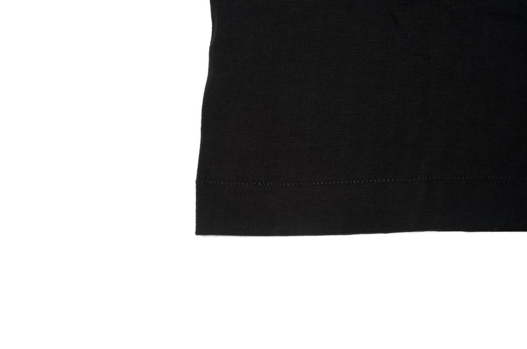Merz. B Schwanen 2-Thread Heavy Weight T-Shirt - Deep Black - Image 6