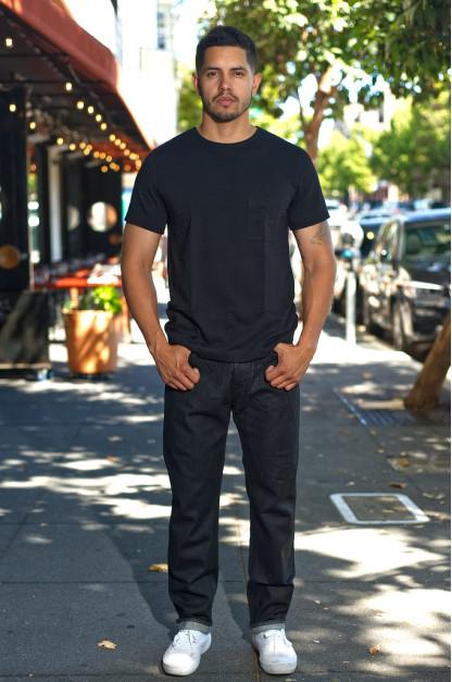 Rick Owens DRKSHDW Detroit Jeans - Made In Japan Black Waxed