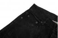 Rick Owens DRKSHDW Detroit Jeans - Made In Japan Black Waxed - Image 4