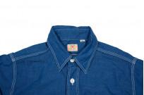 Sugar Cane Long Sleeve Workshirt - Vat Dyed Selvedge Chambray - Image 3