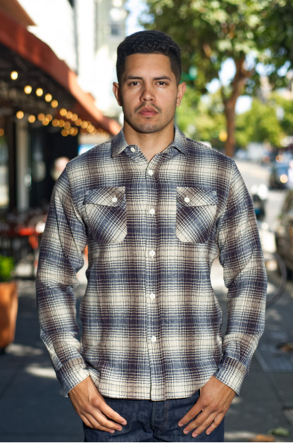 3sixteen Crosscut Brushed Flannel - Blue