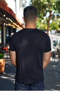Merz B. Schwanen Loopwheeled T-Shirt - Merino Wool Black - Image 1