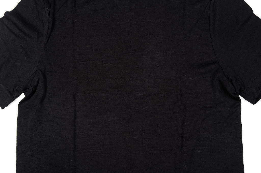 Merz B. Schwanen Loopwheeled T-Shirt - Merino Wool Black - Image 4