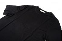 Merz B. Schwanen Loopwheeled T-Shirt - Merino Wool Black - Image 5