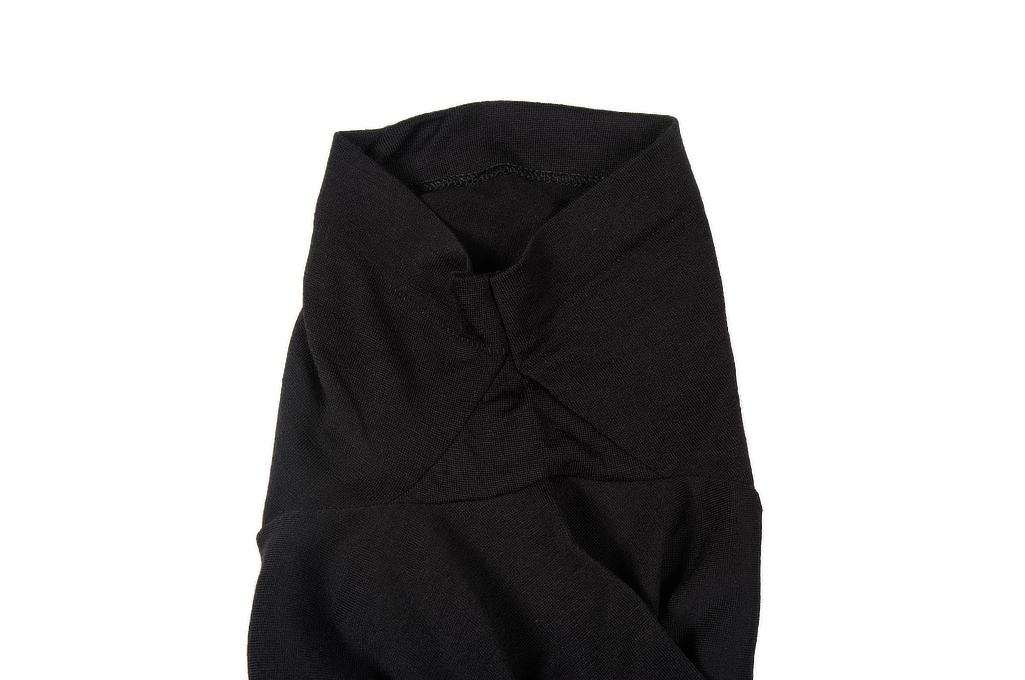 Merz B. Schwanen Loopwheeled T-Shirt - Merino Wool Black - Image 6