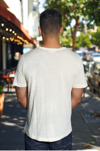 Merz B. Schwanen Loopwheeled T-Shirt - Merino Wool Natural - Image 1
