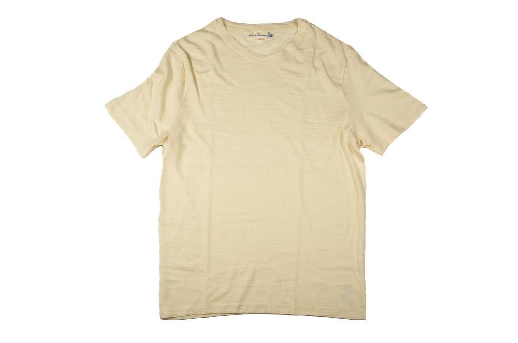 Merz B. Schwanen Loopwheeled T-Shirt - Merino Wool Natural - Image 2