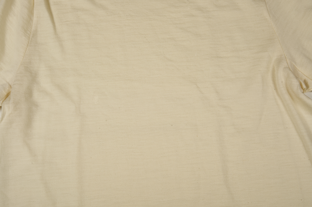 Merz B. Schwanen Loopwheeled T-Shirt - Merino Wool Natural - Image 5