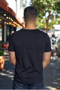 Merz B. Schwanen Loopwheeled Pocket T-Shirt - Super Heavy Black - Image 1