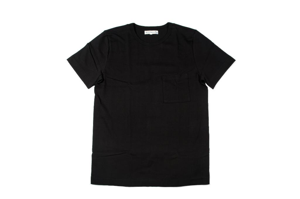 Merz B. Schwanen Loopwheeled Pocket T-Shirt - Super Heavy Black - Image 2