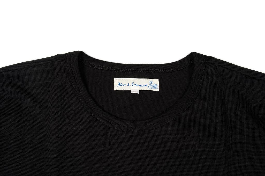 Merz B. Schwanen Loopwheeled Pocket T-Shirt - Super Heavy Black - Image 3
