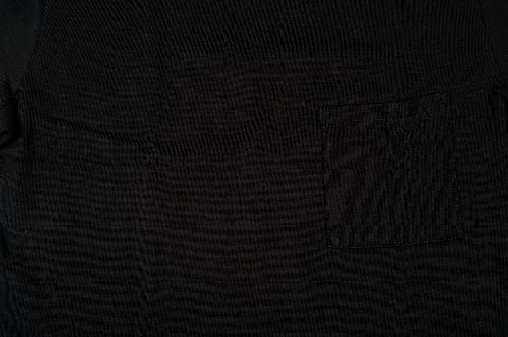 Merz B. Schwanen Loopwheeled Pocket T-Shirt - Super Heavy Black - Image 4