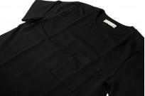 Merz B. Schwanen Loopwheeled Pocket T-Shirt - Super Heavy Black - Image 5