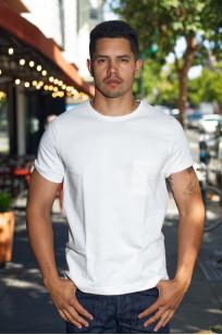 Merz B. Schwanen Loopwheeled Pocket T-Shirt - Super Heavy White - Image 0