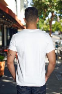 Merz B. Schwanen Loopwheeled Pocket T-Shirt - Super Heavy White - Image 1