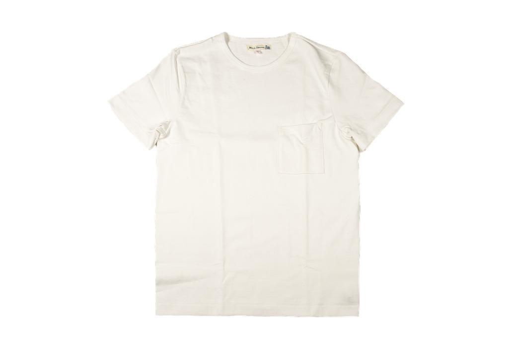 Merz B. Schwanen Loopwheeled Pocket T-Shirt - Super Heavy White - Image 2