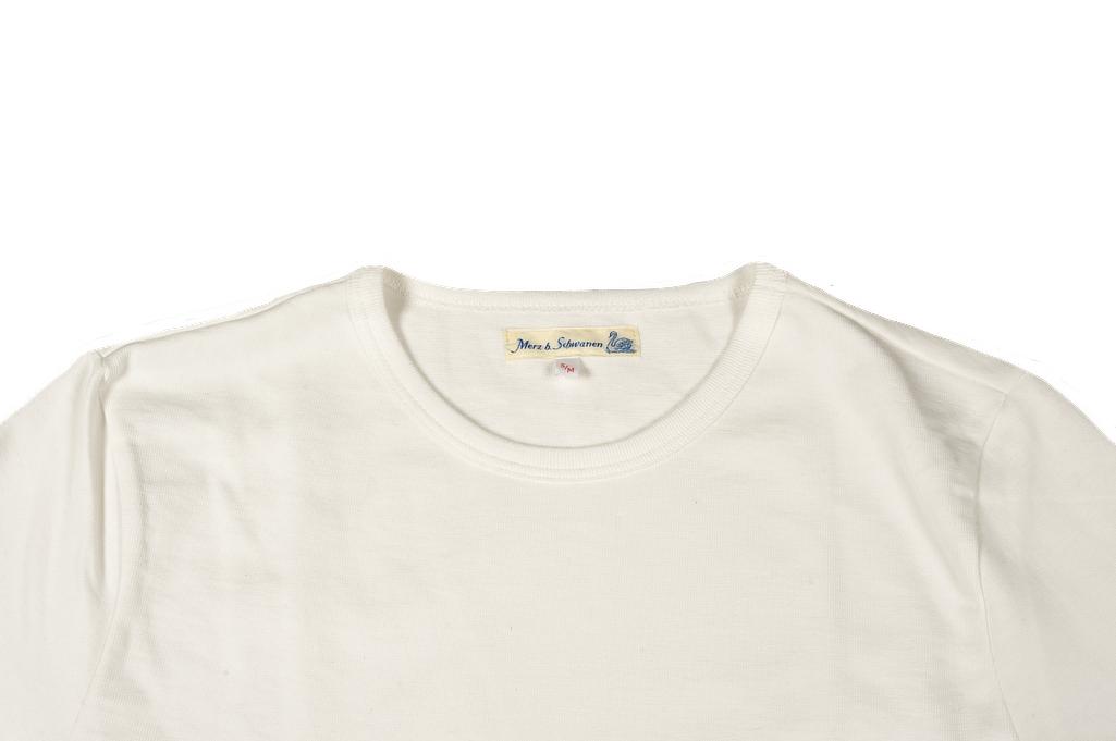 Merz B. Schwanen Loopwheeled Pocket T-Shirt - Super Heavy White - Image 3
