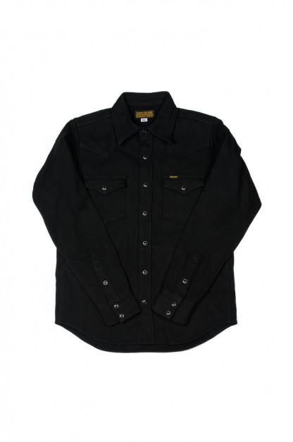 Iron Heart Ultra-Heavy Flannel - Black Herringbone