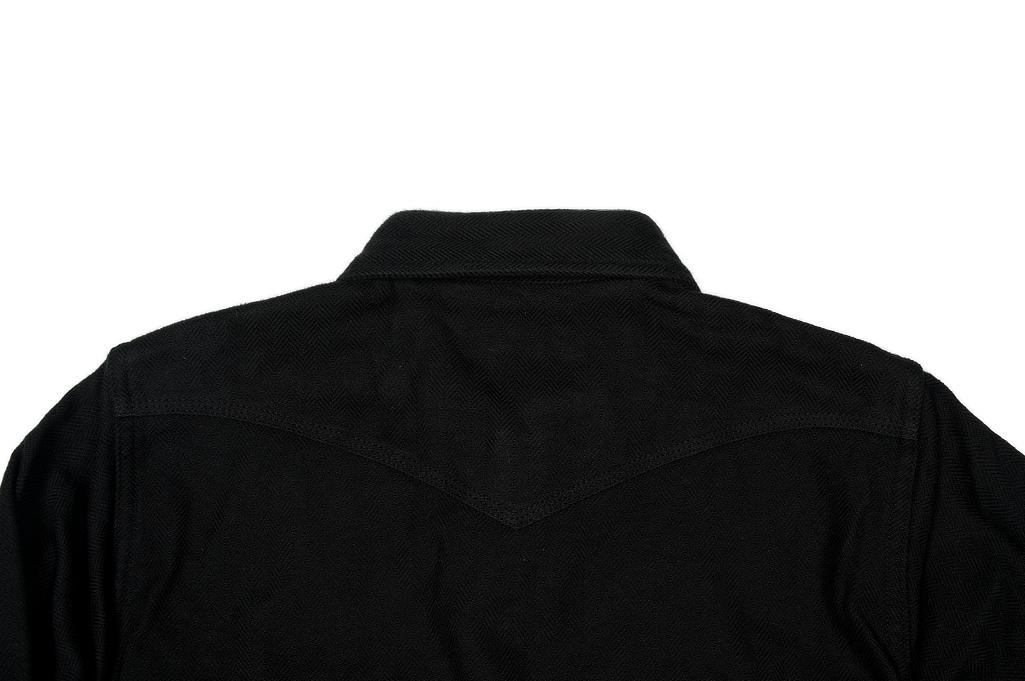 Iron Heart Ultra-Heavy Flannel - Black Herringbone - Image 4