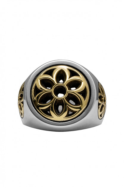 Good Art Rosette Club Ring - Dual-Tone