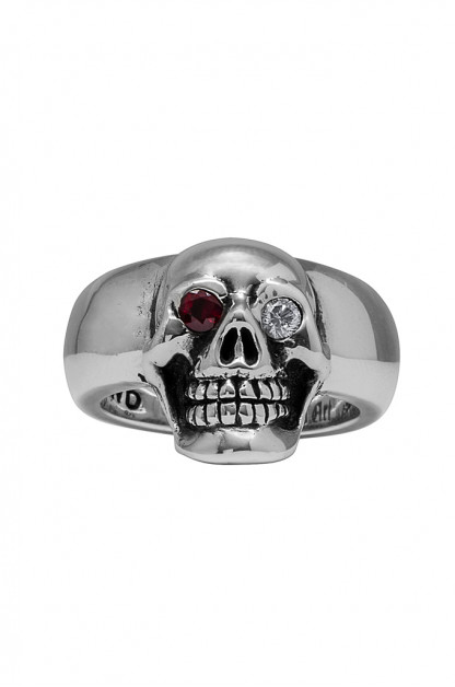 Good Art Jack Moto Ring w/ Ruby & Diamond Eyes