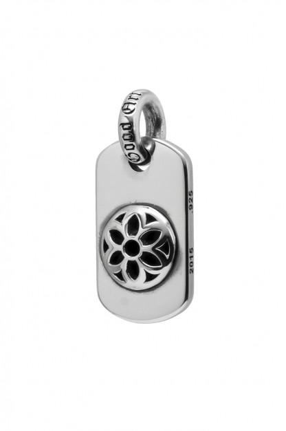 Good Art Sterling Silver Dog Tag - Medium/Raised Rosette
