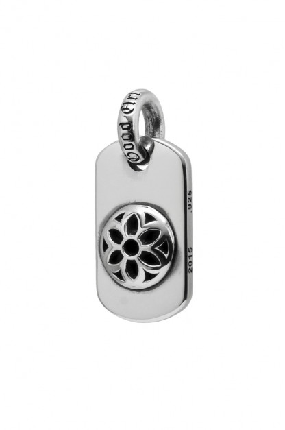 Good Art Sterling Silver Dog Tag - Medium/Raised Rosette