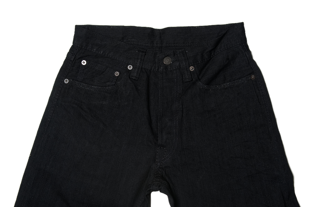 Pure Blue Japan 1143 Light Weight 12oz Jeans - Straight Tapered Black - Image 3
