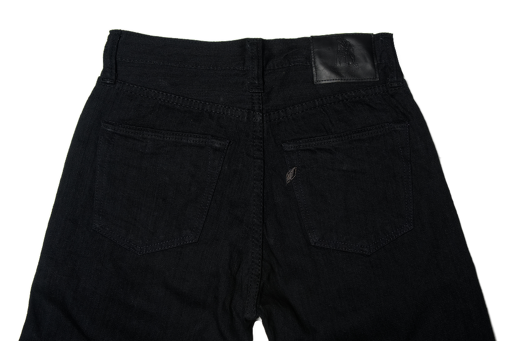 Pure Blue Japan 1143 Light Weight 12oz Jeans - Straight Tapered Black - Image 5