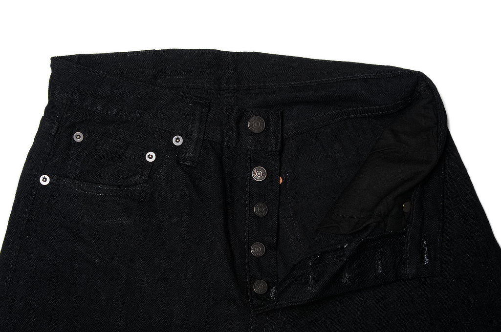 Pure Blue Japan 1143 Light Weight 12oz Jeans - Straight Tapered Black - Image 9
