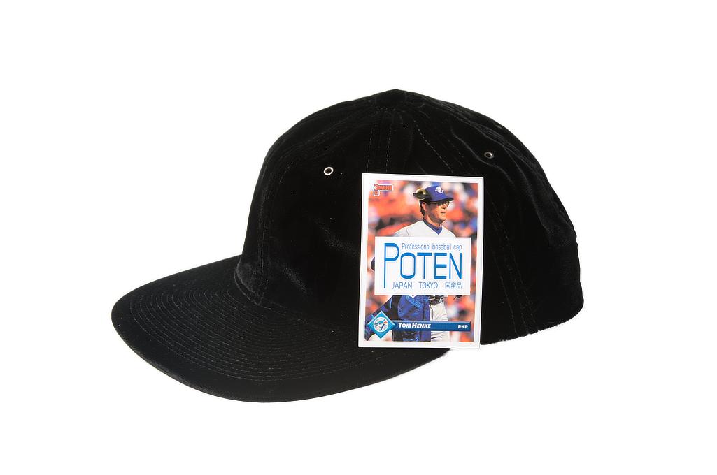 Poten Japanese Made Cap - Black Velvet - Image 2