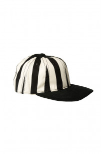 Poten Japanese Made Cap - Black/White Barred - Image 0
