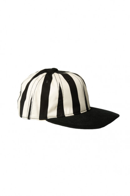 Poten Japanese Made Cap - Black/White Barred