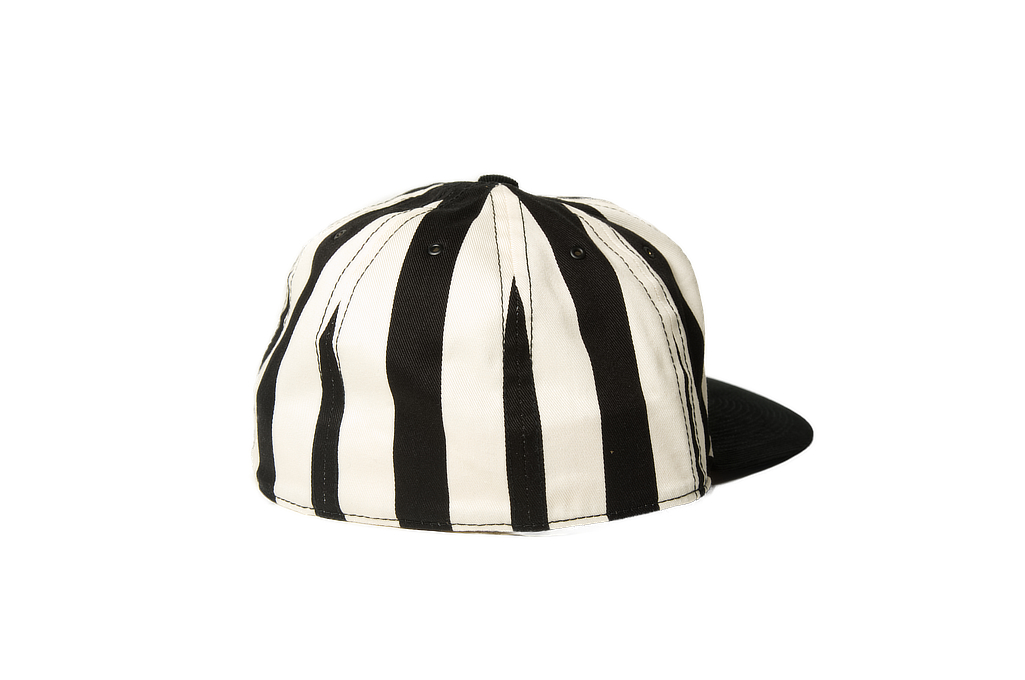 Poten Japanese Made Cap - Black/White Barred - Image 1