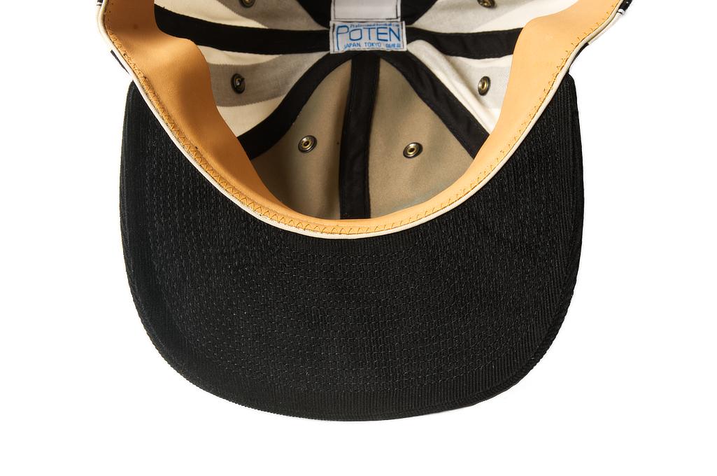 Poten Japanese Made Cap - Black/White Barred - Image 3