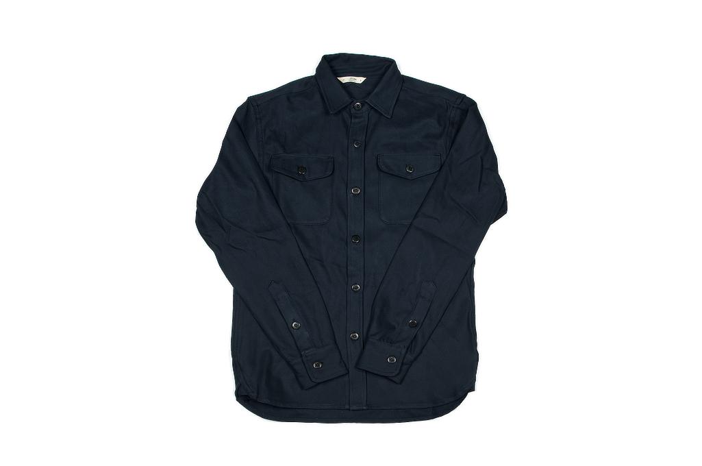 3sixteen CPO Shirt - Navy Twill - Image 2